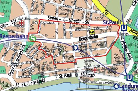 reeperbahn hamburg karte Becherpfand auf St. Pauli.   Die Hamburg Lotsen